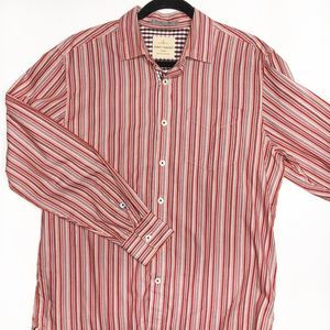 TOMMY BAHAMA Red Striped Button Down